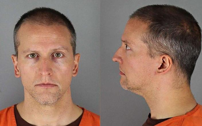 Derek Chauvin is in the court building awaiting the verdict - HANDOUT/Hennepin County Jail/AFP via Getty Images