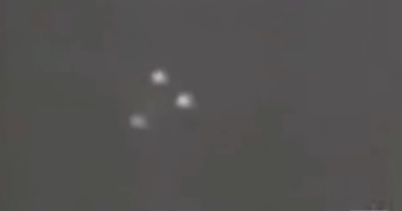 According to the narrator, the aircraft couldn't possibly be a passenger plane because there are no flashing lights on the bottom. Photo: UFO Today/YouTube