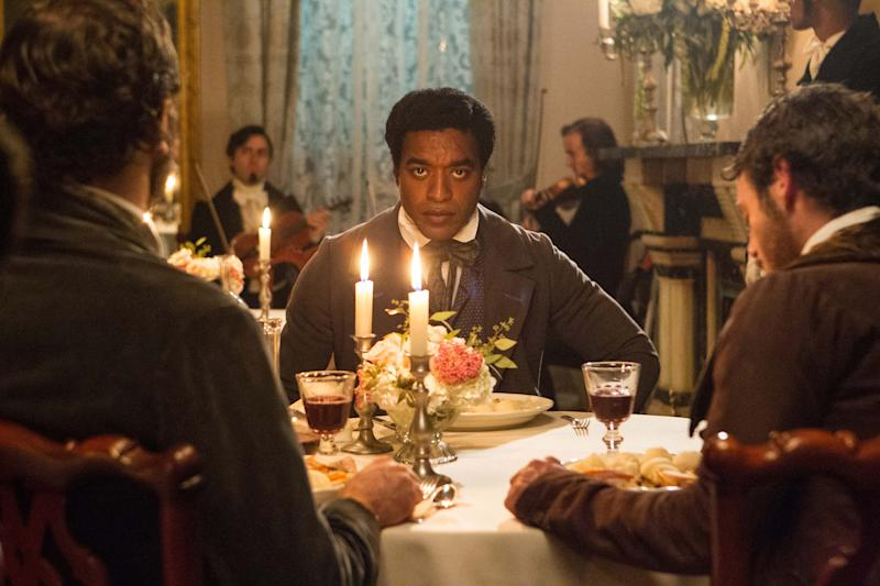"FILE- In this July 18, 2012, film publicity image released by Fox Searchlight, Chiwetel Ejiofor portrays Solomon Northup in a scene from ""12 Years A Slave."" Thanks to Northup's memoir, which the film was based on, historians know where Solomon Northup was born, where he lived and where he worked. Much of his life is part of the record but no one knows when and how he died or where he is buried. (AP Photo/Fox Searchlight Films, Jaap Buitendijk, File)"