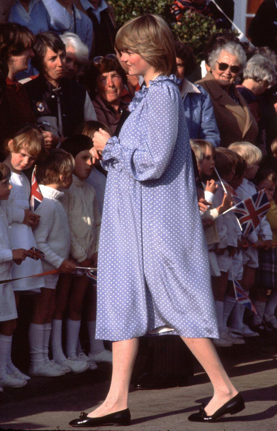 <p>There's no better fit for a princess than a classic, bow-adorned ballet flat—the style was a must for Princess Diana's visit to the Isles of Scilly off the coast of England.</p>
