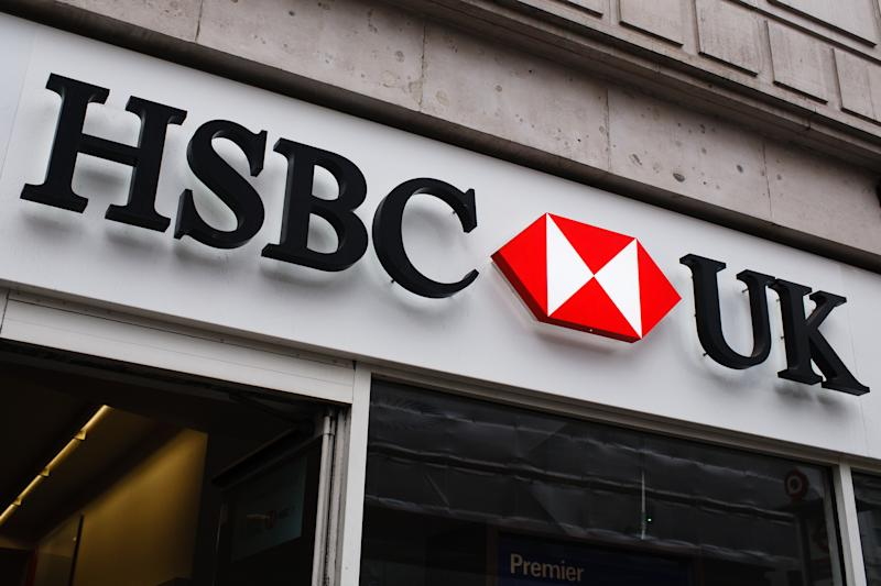 A branch of HSBC stands on High Holborn in London, England, on July 26, 2019. Four major UK banks, including HSBC, are set to release interim figures over the coming days. Half-year results for Lloyds Banking Group are due out on July 31, for Barclays on August 1, for the Royal Bank of Scotland (RBS) on August 2 and for HSBC on August 5. (Photo by David Cliff/NurPhoto via Getty Images)