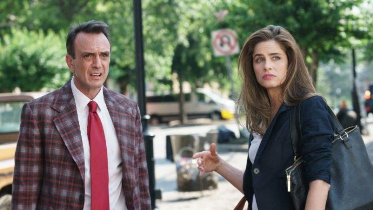 Hank Azaria and Amanda Peet in 'Brockmire' (Credit: IFC)
