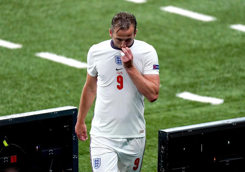 Harry Kane leaves the pitch after being substituted (PA)