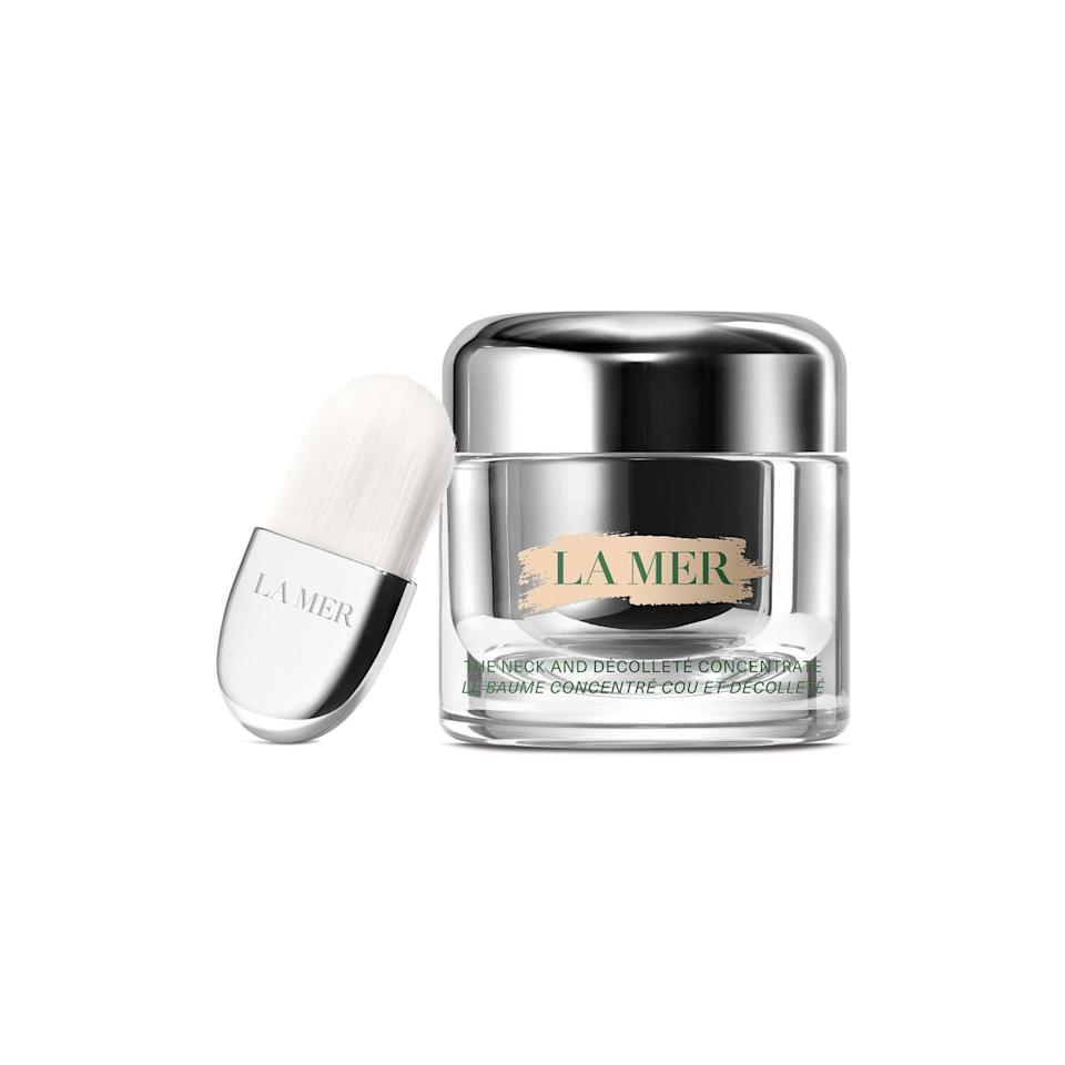 "<p>Now, let's get really luxe. The latest launch from La Mer is a super hydrating balm designed to plump, firm, and lift. This is one that might just be worth a splurge.</p> <p>Buy: $295; <a href=""https://click.linksynergy.com/deeplink?id=93xLBvPhAeE&mid=1237&murl=https%3A%2F%2Fshop.nordstrom.com%2Fs%2Fla-mer-the-neck-decollete-concentrate%2F5348000&u1=SL%2CRX_1908AugustBeautyLaunches_LaMerTheNeckandD%25C3%25A9collet%25C3%25A9Concentrate%2Cpshannon1271%2C%2CIMA%2C633020%2C201908%2CI"" rel=""nofollow noopener"" target=""_blank"" data-ylk=""slk:nordstrom.com"" class=""link rapid-noclick-resp"">nordstrom.com</a></p>"