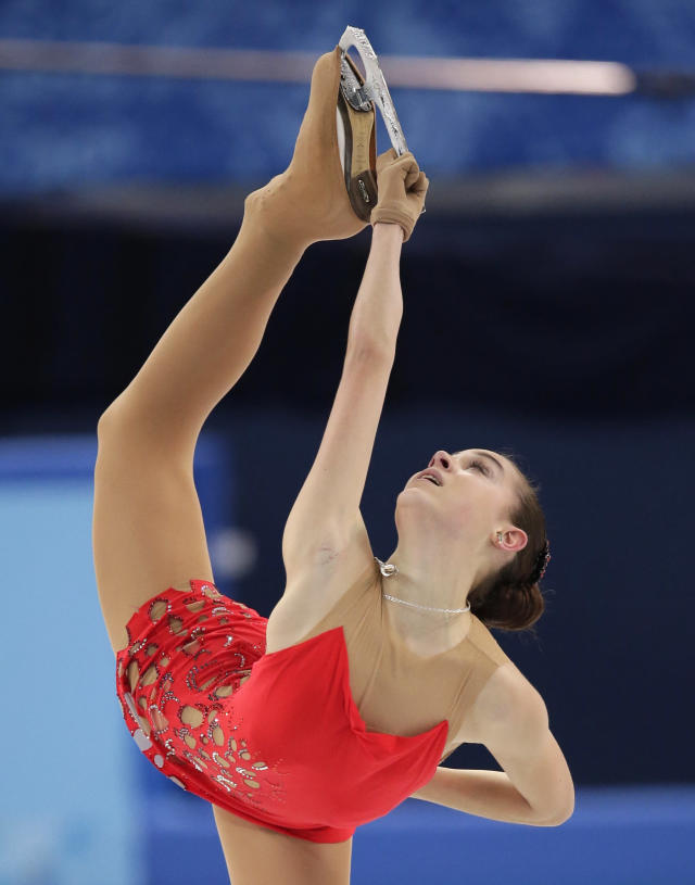 Adelina Sotnikova of Russia competes in the women's short program figure skating competition at the Iceberg Skating Palace during the 2014 Winter Olympics, Wednesday, Feb. 19, 2014, in Sochi, Russia. (AP Photo/Bernat Armangue)