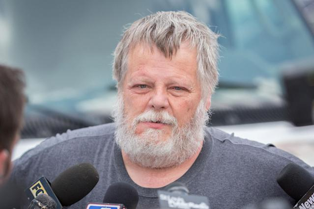 <p>Dale Walsh, a friend of James Hodgkinson, speaks to media outside the home of Virginia shooting suspect Hodgkinson in Belleville, Ill., June 14, 2017. (Photo: Kenny Bahr/Reuters) </p>