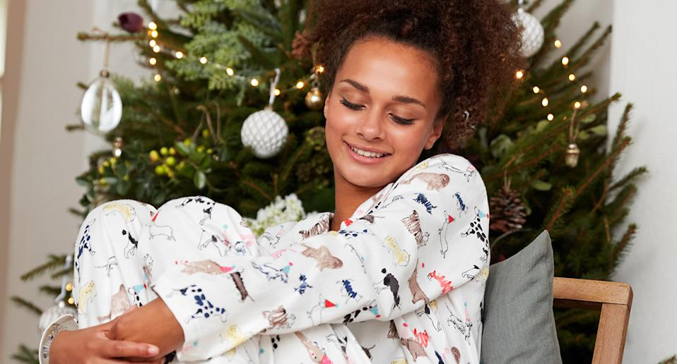 Christmas is coming, and we are on the hunt for festive pyjamas ahead of December 25. (Joules)