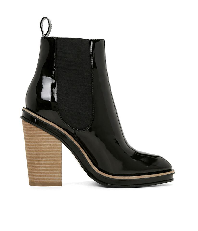 "<p>Aldo Shoes Desarea Boots in Black Patent, $140, <a href=""http://www.aldoshoes.com/us/en_US/women/boots/ankle-boots/c/131/DESAREA/p/38751125-95#"">aldoshoes.com</a></p>"