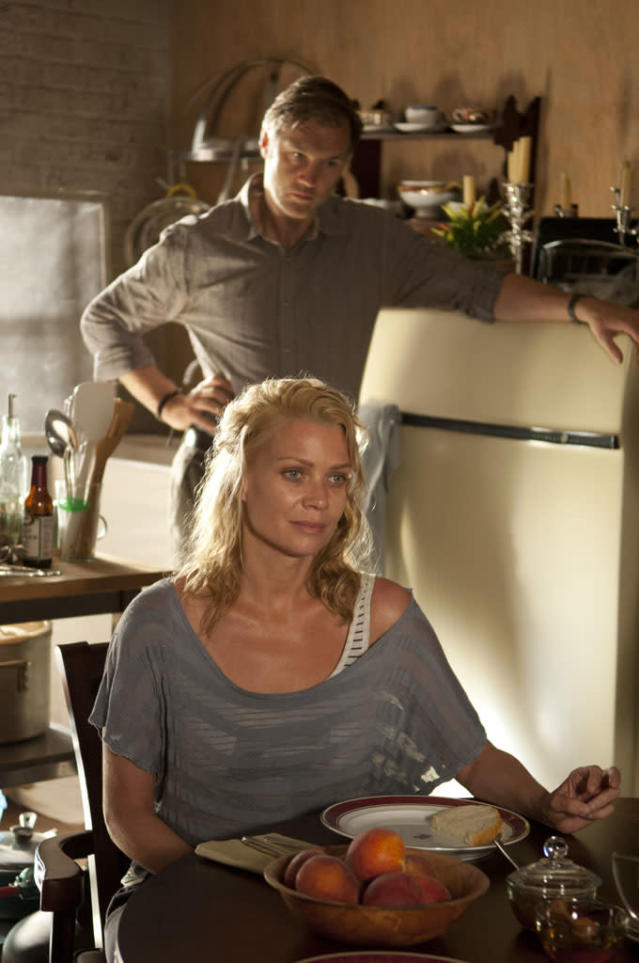 "The Governor (David Morrissey) and Andrea (Laurie Holden) in ""The Walking Dead"" episode, ""Walk With Me."""