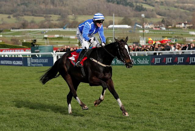 Horse Racing - Cheltenham Festival - Cheltenham Racecourse, Cheltenham, Britain - March 15, 2018 Penhill ridden by Paul Townend before winning the 15:30 Sun Bets Stayers' Hurdle Action Images via Reuters/Andrew Boyers
