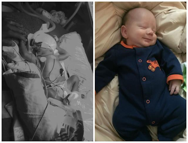 This is Maverick. My water broke at 26 weeks. I was then put on hospital bed rest until he was born. At 31 weeks, he made his debut. He spent three weeks in the NICU and is now 2 months old. He was 4.5 pounds when he was born, and now at 2 months, he is 9 pounds and 7 ounces and meeting all the milestones expected for the age.<br><br><i>--Shauna</i>