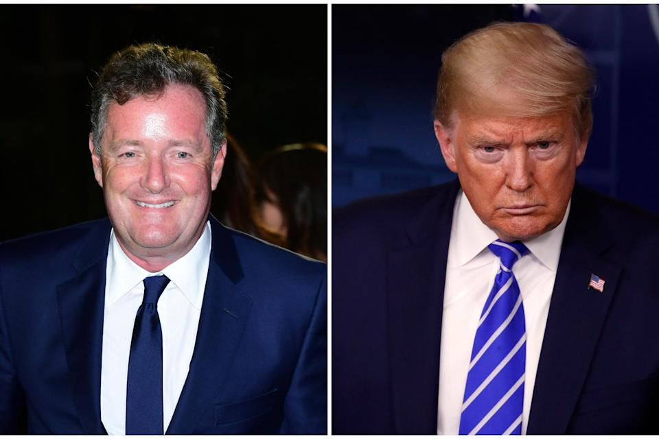 Piers Morgan has asked Donald Trump to re-follow him on Twitter: PA