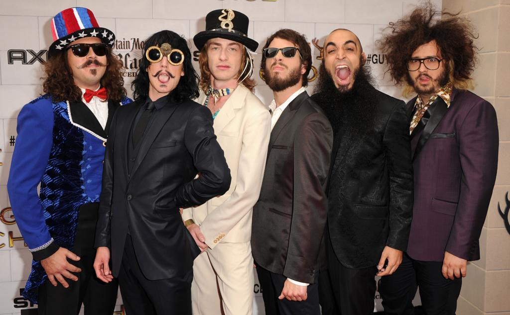 """Recording artists Foxy Shazam attend Spike TV's 6th Annual """"Guys Choice"""" Awards at Sony Studios on June 2, 2012 in Los Angeles, California."""