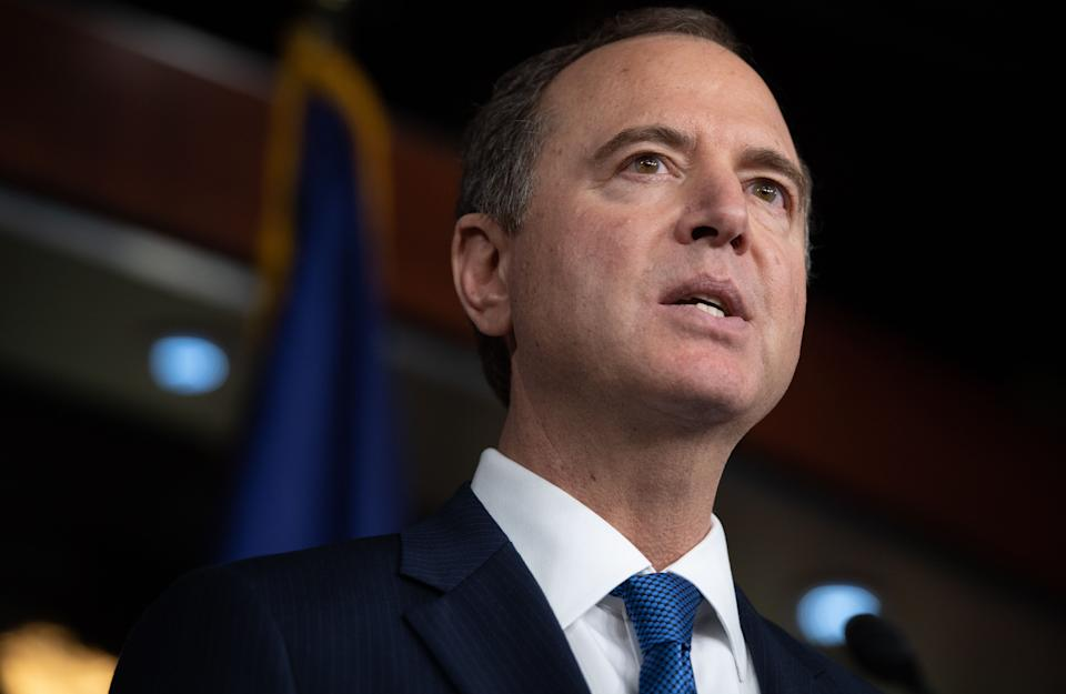 U.S. Representative Adam Schiff, Democrat of California and the Chairman of the House Permanent Select Committee on Intelligence, speaks during a press conference on Capitol Hill in Washington, D.C., Oct. 31, 2019. (Photo: Saul Loeb/AFP via Getty Images)