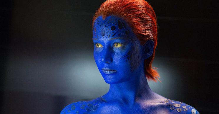 Jennifer Lawrence as Mystique in X-Men: Days of Future Past.