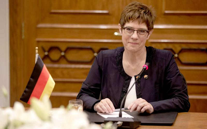 Annegret Kramp-Karrenbauer came under fire after she appeared to call for the former intelligence chief to be expelled from the CDU. - REX