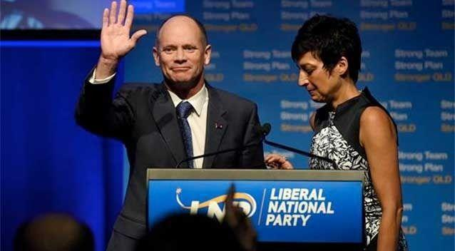 Campbell Newman announced his retirement from politics on Saturday night when he was ousted from his Ashgrove electorate. Photo: AAP