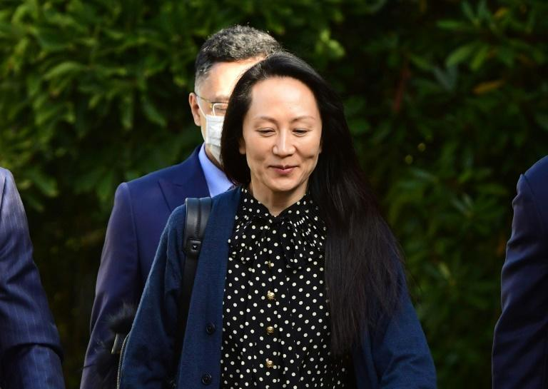 Huawei Chief Financial Officer Meng Wanzhou leaves her Vancouver home to attend her extradition hearing on September 24, 2021 (AFP/Don MacKinnon)