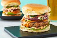 """<p>Move over, beef burgers. These delicious chicken burgers are a fresh spin on a traditional 4th ofJuly food. </p><p><em><strong>Get the recipe at </strong></em><a href=""""https://www.delish.com/cooking/recipe-ideas/a13513/chicken-burgers-recipe-mslo1010/"""" rel=""""nofollow noopener"""" target=""""_blank"""" data-ylk=""""slk:Delish."""" class=""""link rapid-noclick-resp""""><em><strong>Delish.</strong></em></a></p>"""