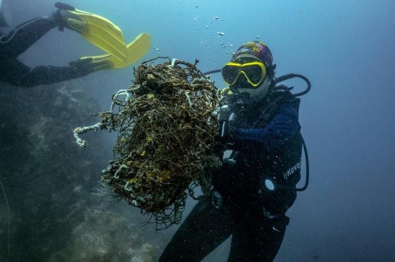"""The """"ghost nets"""" discarded from the country's lucrative fishing industry are a deadly source of plastic pollution"""