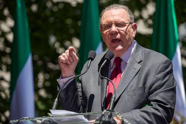 PHOTO: Former Vice Chief of Staff of the U.S. Army Gen. Jack Keane, speaks to activists gathered at the State Department before a march to the White House to call for regime change in Iran, June 21, 2019, in Washington, D.C. (Alex Brandon/AP, FILE)