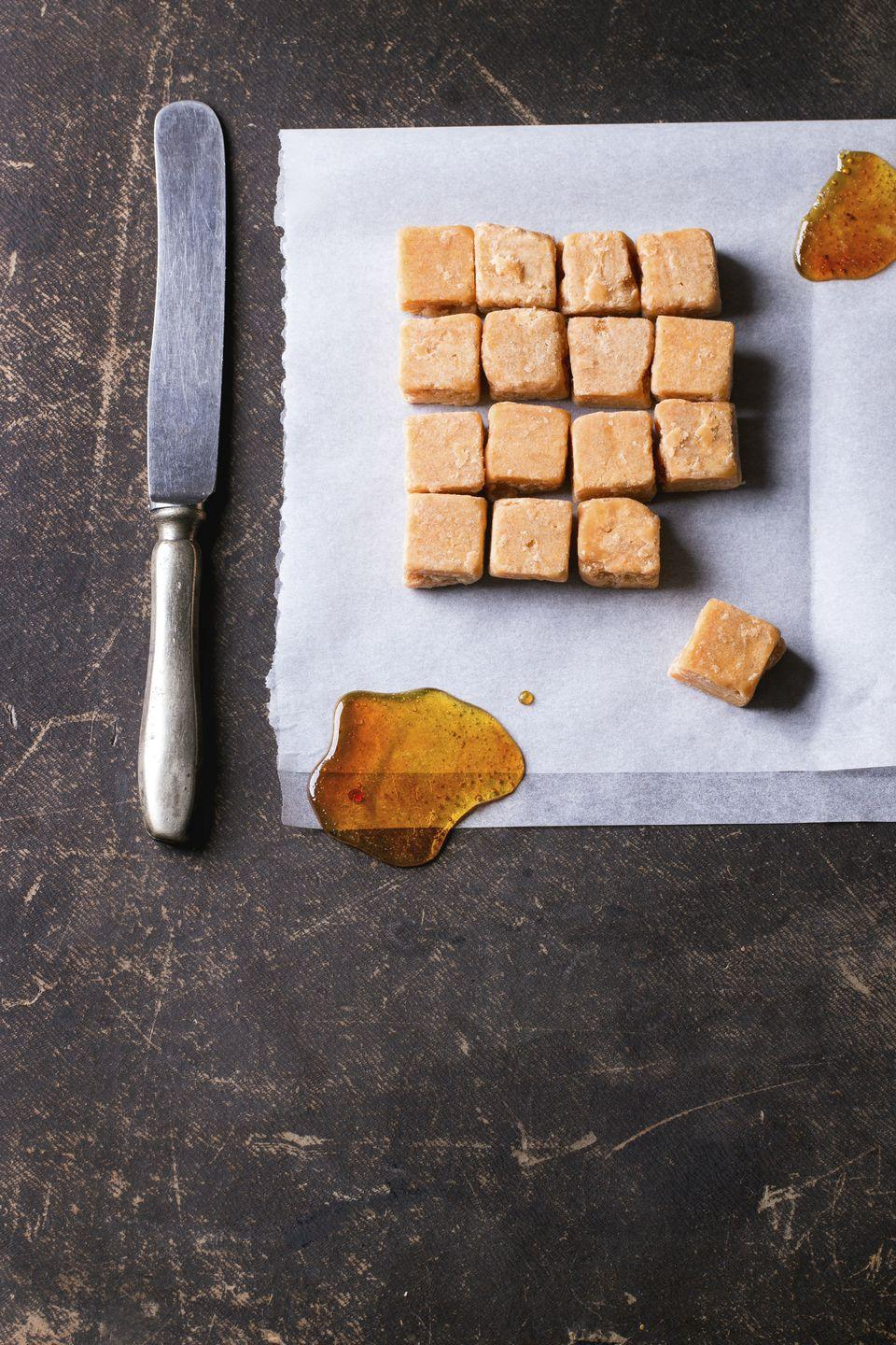 """<p>Another sugarless alternative to dessert, almond butter packs a punch of plant-based proteins (including magnesium and vitamin E) into this wholesome treat. You may also sub ket0-friendly peanut butter or cashew butter in this straightforward recipe.<br></p><p><em><em><em><a href=""""https://www.goodhousekeeping.com/food-recipes/dessert/a29774817/almond-butter-fudge-recipe/"""" rel=""""nofollow noopener"""" target=""""_blank"""" data-ylk=""""slk:Get the recipe for Keto Almond Butter Fudge Recipe »"""" class=""""link rapid-noclick-resp"""">Get the recipe for Keto Almond Butter Fudge Recipe <em><em>»</em></em></a></em></em></em></p>"""