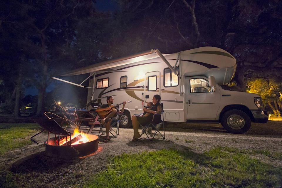 """<p>If you're not comfortable staying in a hotel or renting a home, consider renting an RV to limit exposure to others. """"As travel restrictions continue, many families are exploring RV travel as a way to vacation in a self-contained environment where they can have complete control over where, how and with whom they travel,"""" says Jer Goss, CEO of <a href=""""https://gossrv.com/"""" rel=""""nofollow noopener"""" target=""""_blank"""" data-ylk=""""slk:Goss RV"""" class=""""link rapid-noclick-resp"""">Goss RV</a>. """"For those wanting a little more luxury, high-end RV resorts offer unbelievable amenities and ample distancing. RVs afford people a sense of freedom, privacy and control that many travelers are craving right now.""""<br></p><p>When you're deciding what kind of comforts you want in your RV, think about hygiene first. If you don't want to look for campgrounds with open amenities, consider an RV that has a shower and toilet. """"Nothing feels safer than living in your own space,"""" says Marianne Edwards, co-founder at Boondockers Welcome. """"You're the only one using your kitchen, don't have to use public washrooms (which may not even be available), can wash your hands as often as you like, and perhaps best of all, sleep in your own bed every night."""" </p><p>A <u><a href=""""https://www.globenewswire.com/news-release/2020/06/30/2055764/0/en/Nissan-survey-says-More-Americans-road-tripping-with-fun-in-tow-this-summer.html"""" rel=""""nofollow noopener"""" target=""""_blank"""" data-ylk=""""slk:survey"""" class=""""link rapid-noclick-resp"""">survey</a></u> from Nissan found that 28% are thinking of renting or buying a vehicle capable of towing. What many folks may not realize, however, is that a typical family vehicle they may already own can tow many of today's lightweight RVs. Before you get on the road, ensure that your trailer and vehicle are a match. Check all of your fluids, since towing puts an extra strain on a vehicle, especially in the summer. Finally, check the tire pressure for your vehicle and the trailer (and don't forget"""