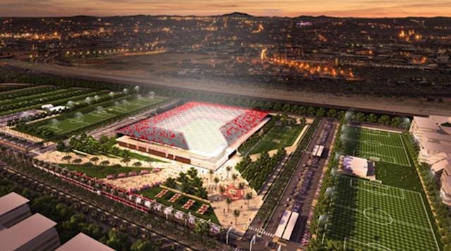 <p>USL's Phoenix Rising FC aims to snag one of MLS's four expansion berths with this stadium and training field complex.</p>