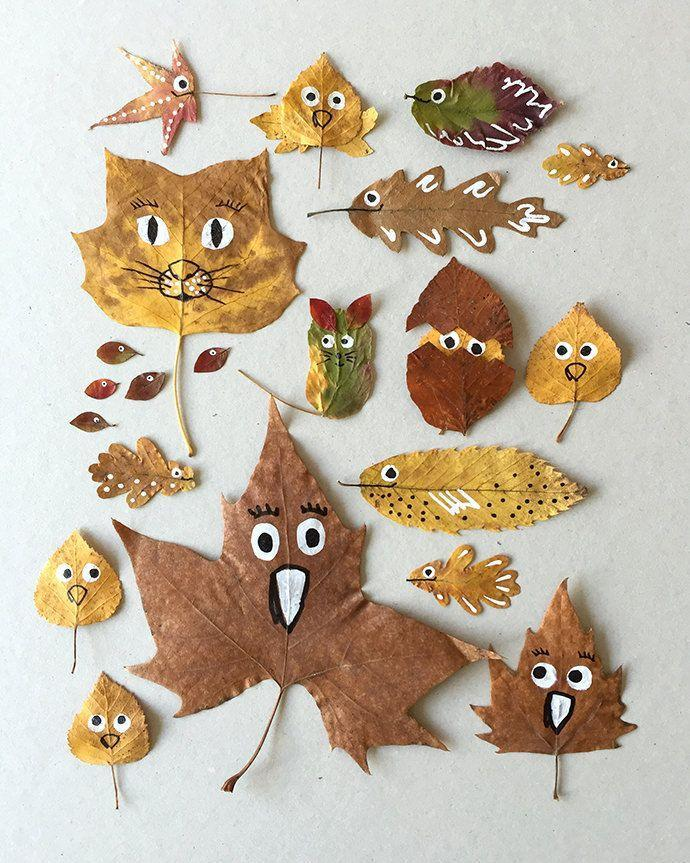"""<p>Before you get carried away with raking, round up a few colorful leaves for this easy craft. Humanize the foliage with hand-drawn eyes, mouths and other human-like features. </p><p><em><a href=""""https://www.handmadecharlotte.com/fall-in-love-with-these-quirky-fall-friends/"""" rel=""""nofollow noopener"""" target=""""_blank"""" data-ylk=""""slk:Get the tutorial at Handmade Charlotte »"""" class=""""link rapid-noclick-resp"""">Get the tutorial at Handmade Charlotte »</a></em></p>"""