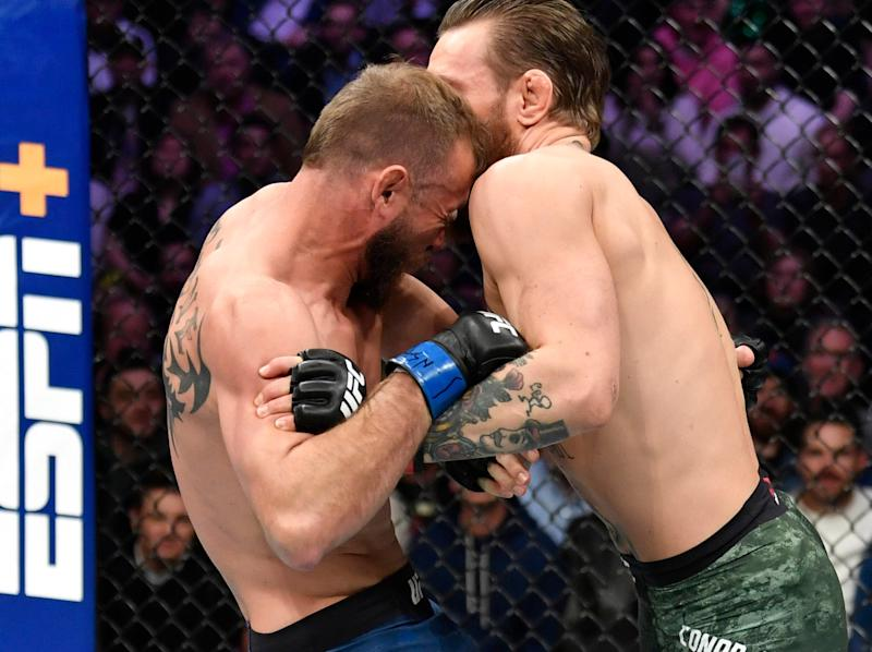 Conor McGregor stopped Donald Cerrone at UFC 246: Getty