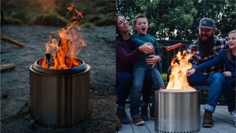 With Solo Stove, flames will ignite all around you two.
