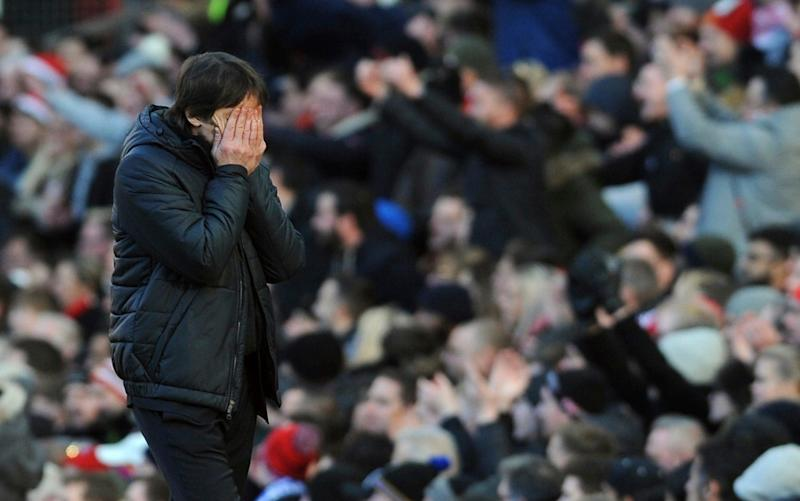 Antonio Conte again finds himself under pressure after defeat to Manchester United - AP