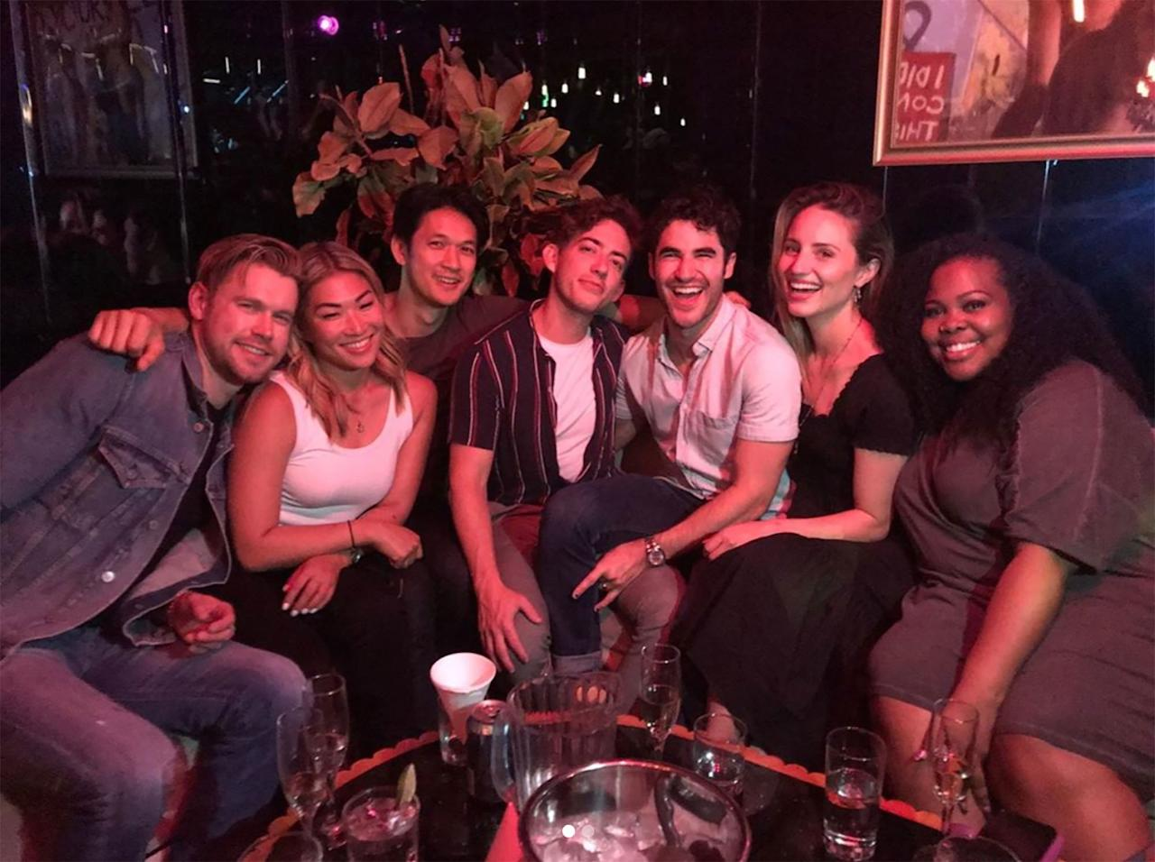 Chord Overstreet, Jenna Ushkowitz, Harry Shum Jr., Kevin McHale, Darren Criss, Dianna Agron and Amber Riley all got together recently.