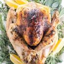 "<p>Butter and garlic lathered on roasted turkey? Yum. And it's keto friendly for Thanksgiving, so you can't get any better. This recipe from <a href=""https://www.wholesomeyum.com/easy-garlic-butter-herb-roasted-turkey-recipe/"" rel=""nofollow noopener"" target=""_blank"" data-ylk=""slk:Wholesome Yum"" class=""link rapid-noclick-resp"">Wholesome Yum</a> has all the flavors you're looking for with some fat from the butter without all the carbs that could come from other types of sauces or gravy.</p>"