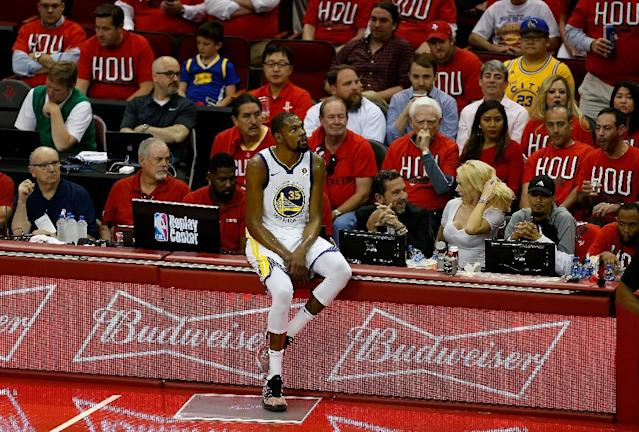 Kevin Durant sparked a fightback from the Golden State Warriors in a 119-106 win over Houston in game one of the Western Conference Finals (AFP Photo/Bob Levey)