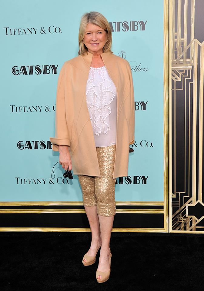 """Martha Stewart attends the """"The Great Gatsby"""" world premiere at Avery Fisher Hall at Lincoln Center for the Performing Arts on May 1, 2013 in New York City.  (Photo by Stephen Lovekin/Getty Images)"""
