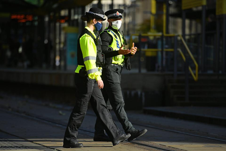 <p>Police were praised for their efforts in enforcing coronavirus lockdown rules at short notice</p> (PA Wire)