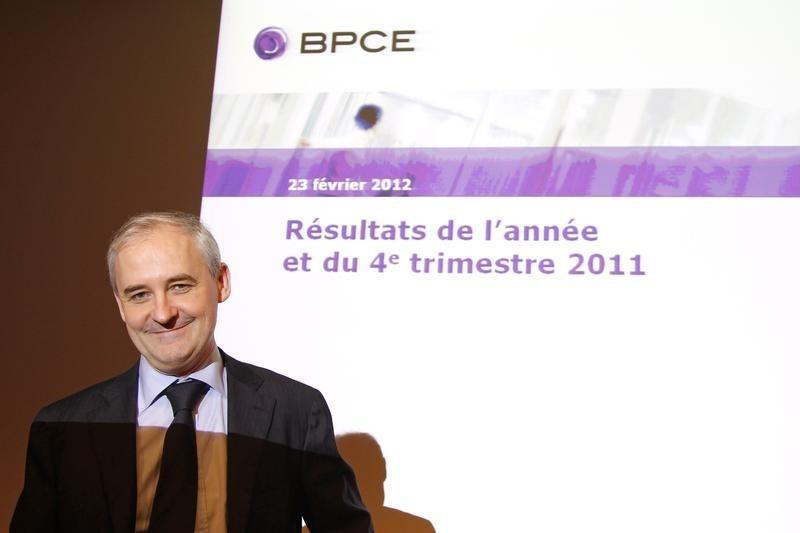 Francois Perol, BPCE group and Natixis Chairman, arrives for the company's 2011 annual results presentation in Paris