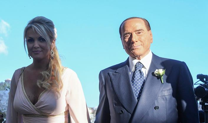 Silvio Berlusconi, with his former girlfriend Francesca Pascale, who he left for an even younger woman - Getty