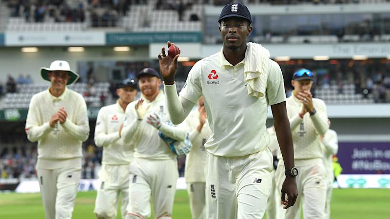 Jofra Archer, pictured here in action for England in the 2019 Ashes series.