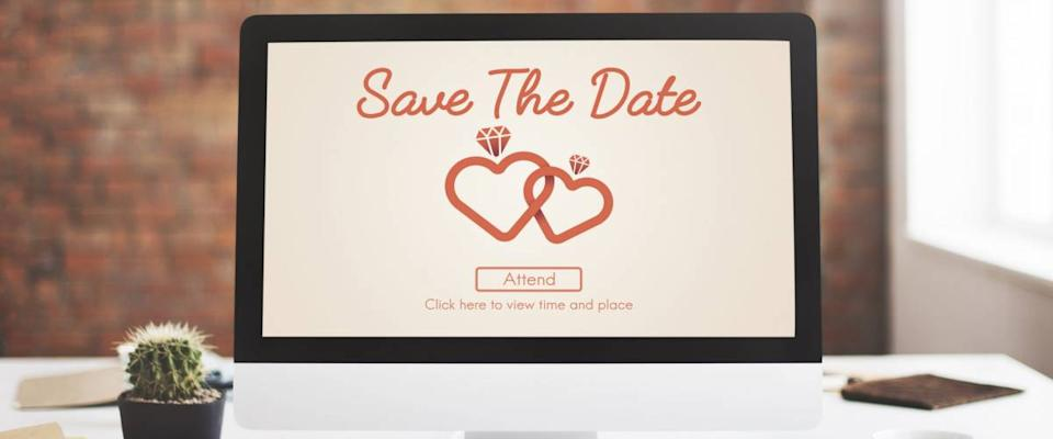 Save The Date Wedding Day Love Concept