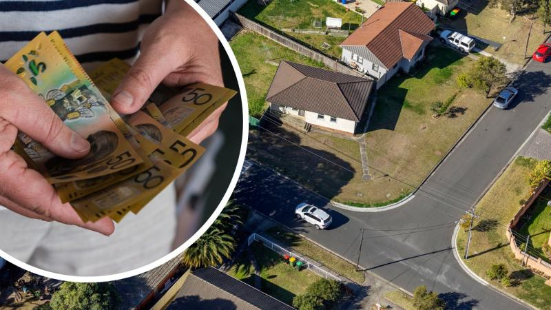 Pictured: Australian homes, Australian cash. Home loan/mortgage concept. Images: Getty