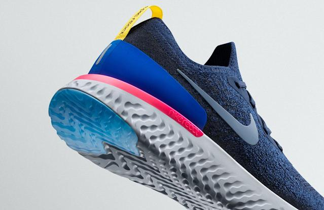 Close-up details of the new Nike Epic React Flyknit shoes (Photo: Courtesy of Nike)