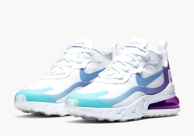 Women's Nike Air Max 270 React (White/Aurora)
