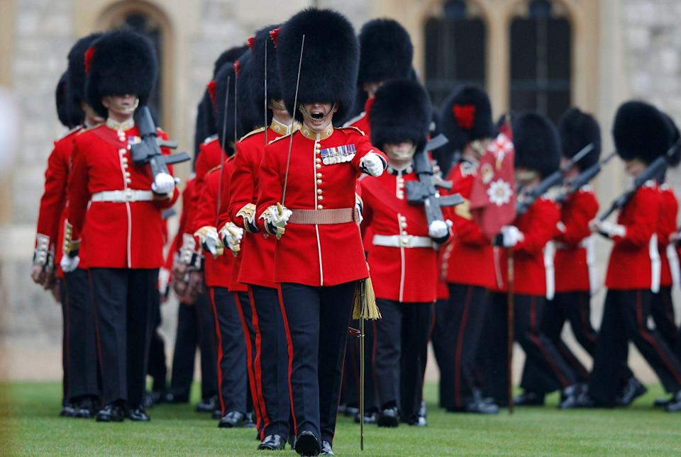 Members of the 1st Battalion and No. 7 Company the Coldstream Guards - Getty Images