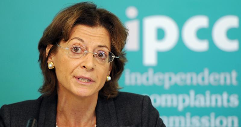 Deborah Glass, Commission Deputy Chair of the Independent Police Complaints Commission (IPCC) talks during a briefing on its review of the Hillsborough Independent Panel's report in central London, Friday Oct. 12, 2012. The IPCC said Friday that a large number of serving or retired officers would be investigated over what happened on April 15, 1989 - the day of the stadium disaster that left 96 sports fans dead and changed the face of British soccer. (AP Photo/PA, Anthony Devlin) UNITED KINGDOM OUT  NO SALES  NO ARCHIVE