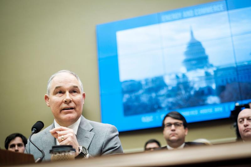 EPA Administrator Scott Pruitt testifies on Dec. 7 before the House Energy and Commerce Committee.  (Photo: Pete Marovich/Getty Images)