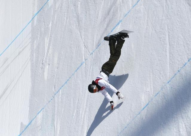 Snowboarding - Pyeongchang 2018 Winter Olympics - Men's Big Air Qualifications - Alpensia Ski Jumping Centre - Pyeongchang, South Korea - February 21, 2018 - Clemens Millauer of Austria competes. REUTERS/Toby Melville