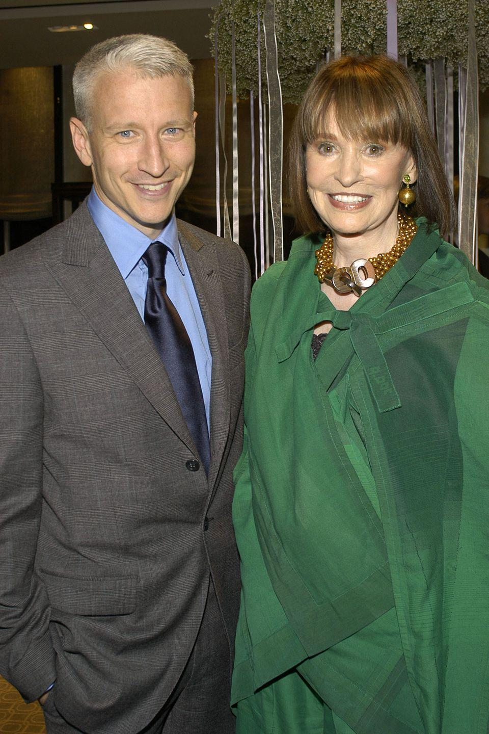 """<p>Vanderbilt poses with her son Cooper at Tiffany's """"Silver Jewelry"""" party. </p>"""
