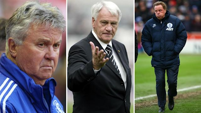 Golden oldies: Hiddink, Sir Bobby and Redknapp